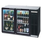 Beverage-Air BB48GY-1-B-27-LED 48 inch Back Bar Refrigerator with 2 Glass Doors and Stainless Steel Top - 115V