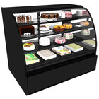 Structural Concepts HV96R Encore 96 inch Black Curved Glass Refrigerated Bakery Display Case