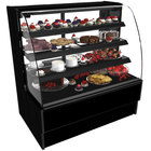 Structural Concepts HMG7553R Harmony 75 1/8 inch Black Curved Glass Refrigerated Bakery Display Case