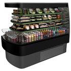 Structural Concepts FSE663R Oasis Black 73 1/4 inch End Cap Air Curtain Merchandiser