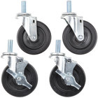 Stem Casters for SunFire X24, X36, X60 and Garland / U.S. Range G, GF, GFE, and U Series Ranges - 4/Set