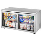 """True TUC-60G-LP~FGD01 60"""" Low Profile Undercounter Refrigerator with Glass Doors"""