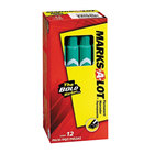 Avery 8885 Marks-A-Lot Large Green Chisel Tip Desk Style Permanent Marker - 12/Pack