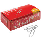 Universal UNV72240 Silver Nonskid Jumbo Paper Clip   - 1000/Box