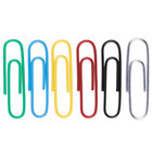 Universal UNV21000 Assorted Color #1 Standard Vinyl-Coated Paper Clip - 1000/Box