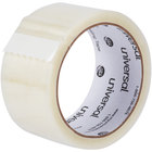 Universal One UNV61000 2 inch x 55 Yards Clear General Purpose Box Sealing Tape