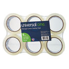 Universal One UNV33100 2 inch x 55 Yards Clear Heavy-Duty Acrylic Box Sealing Tape - 6/Pack