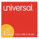 Universal UNV81236VP 1/2 inch x 36 Yards Clear Write-On Invisible Tape - 12/Pack