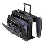 Samsonite 110201041 17 1/2 inch x 7 1/2 inch x 15 inch Black Nylon Side Loader Office Rolling Laptop Case