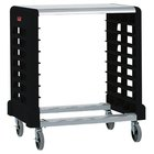 Rubbermaid FG331600BLA Max System Black Side Load Prep Cart with Cutting Board - 8 Slots (FG331600BLA)