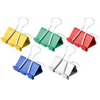 Universal UNV31029 5/8 inch Capacity Assorted Color Medium Binder Clips - 24/Box