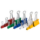 Universal UNV31026 Assorted Color Mini, Small, and Medium Binder Clips - 30/Box