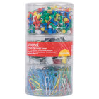 Universal UNV31203 Assorted Color Combo Clip and Push Pin Pack
