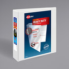 """Avery 5504 White Heavy-Duty Non-Stick View Binder with 2"""" Slant Rings"""