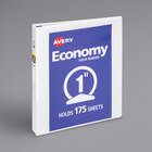 """Avery 5711 White Economy View Binder with 1"""" Round Rings"""