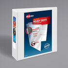 """Avery 5604 White Heavy-Duty Non-Stick View Binder with 3"""" Slant Rings"""