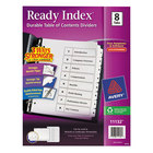Avery 11132 Ready Index 8-Tab White Table of Contents Dividers
