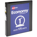 """Avery 05710 Black Economy View Binder with 1"""" Round Rings"""