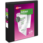 Avery 9400 Black Durable View Binder with 1 1/2 inch Non-Locking One Touch EZD Rings