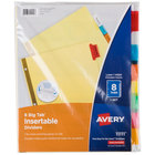 Avery 11111 Big Tab Buff Paper 8-Tab Multi-Color Insertable Dividers