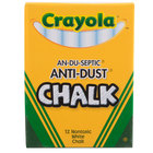 Crayola 501402 White An-Du-Septic Anti-Dust Chalk - 12/Box