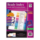Avery 11143 Ready Index 15-Tab Multi-Color Table of Contents Dividers