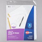 Avery 23078 Big Tab Write & Erase 8-Tab White Dividers
