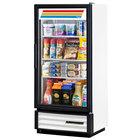 True GDM-10PT-HC-LD White Glass Door Pass-Through Refrigerated Merchandiser with LED Lighting