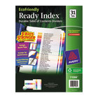 Avery 11084 EcoFriendly Ready Index 31-Tab Multi-Color Table of Contents Dividers