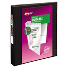 Avery 17011 Black Durable View Binder with 1 inch Slant Rings