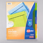 Avery 11900 Big Tab 5-Tab Insertable Multi-Color Plastic Dividers