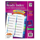 Avery 11320 Ready Index 16-Tab Double-Column Multi-Color Table of Contents Dividers