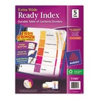 Avery 11161 Ready Index Extra Wide 5-Tab Multi-Color Table of Contents Dividers