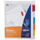 Avery 11220 Big Tab Extra Wide 5-Tab Multi-Color Insertable Tab Dividers