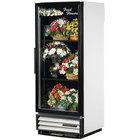 True GDM-12FC-HC-LD 25 inch White Glass Door Floral Case