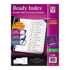 Avery 11140 Ready Index 12-Tab White Table of Contents Dividers