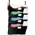 Universal UNV08138 Black Plastic 4 Pocket Partition Mounted Grande Central Filing System