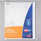 Avery 11221 Big Tab Extra Wide 5-Tab Clear Insertable Tab Dividers