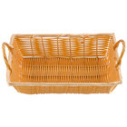 12 inch x 8 inch x 3 inch Rectangular Woven Basket with Handles
