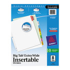Avery 11222 Big Tab Extra Wide 8-Tab Multi-Color Insertable Tab Dividers