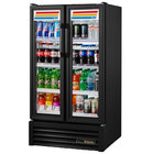 True GDM-30-HC-LD 31 inch Black Glass Door Refrigerated Merchandiser with LED Lighting