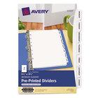 Avery 11319 Mini Pre-Printed 7-Tab Monday-Sunday Dividers
