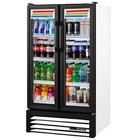 True GDM-30-HC-LD 31 inch White Glass Door Refrigerated Merchandiser with LED Lighting