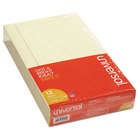 Universal UNV50000 8 1/2 inch x 14 inch Legal Ruled Canary Glue Top Writing Pad, Legal - 12/Pack