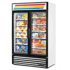 True GDM-43F~TSL01 White Glass Swing Door Merchandiser Freezer with LED Lighting - 40.6 Cu. Ft.