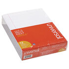 Universal UNV41000 Narrow Rule White Glue Top Writing Pad, Letter - 12/Pack