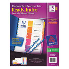 Avery 11152 Ready Index Narrow 5-Tab Multi-Color Unpunched Table of Contents Divider Set - 5/Pack