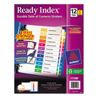 Avery 11196 Ready Index 12-Tab Multi-Color Table of Contents Divider Set - 6/Pack