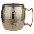 American Metalcraft GM16H 16 oz. Gold Moscow Mule Mug with Hammered Finish