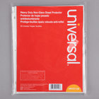 Universal UNV21129 8 1/2 inch x 11 inch Clear Heavyweight Non-Glare Top-Load Sheet Protector, Letter - 50/Pack